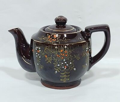 Antique Japan Clay Japan Moriage Handpainted Tea Pot - 1 Cup