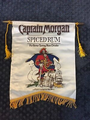 "Vintage Captain Morgan Spiced Rum 18"" x 19"" Banner"