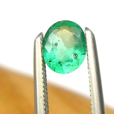 0.32 carat Oval 5x4mm Bright Green Natural Emerald Precious Gemstone Loose, EO6