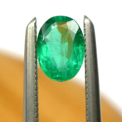 0.33 carat Oval 5x4mm Bright Green Natural Emerald Precious Gemstone Loose, EO4