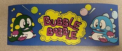 Bubble Bobble arcade marquee sticker. 3.5 x 10. (Buy 3 stickers, GET ONE FREE!)