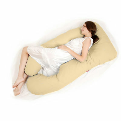 Full Body Pillow, U Shaped Pregnancy Pillow & Maternity Support Beige