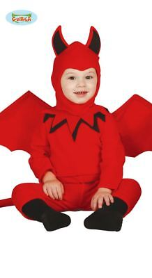 Toddlers Boys Red Devil Halloween Fancy Dress Costume Infants Babies Outfit