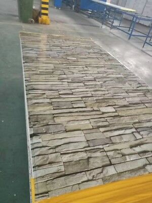 Insulated EPS Coolroom Wall panel Stacker Stone Panels 75mm ,1150mm Width 2400