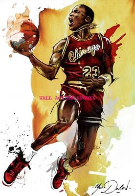 MICHAEL JORDAN BULLS Photo Quality Poster - Choose a Size! C