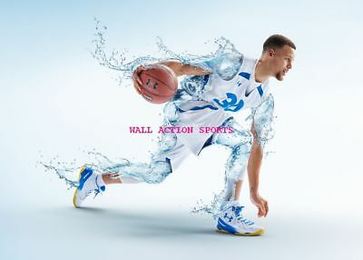 STEPH CURRY WARRIORS Photo Quality Poster - Choose a Size! D
