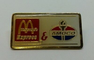 McDonald's Express & Amoco Gold Tone Lapel Pin