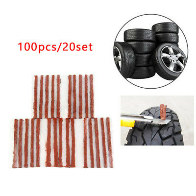 100 PCS Rubber Tire Repair Tubeless Strip Plug Tire Puncture Recovery Universal