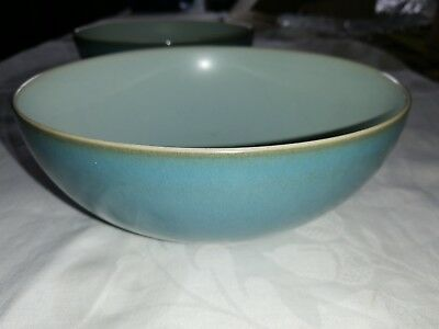 Denby Everyday Teal (2 cereal bowls) 6.5 Inches very good