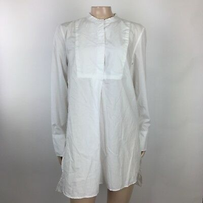 NEW GAP Maternity Women's sHirt Dress Medium White Tunic L/S Career Cotton QQ35