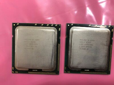 LOT OF 2 Intel Xeon E5540 4-Core CPU Processor 2.53GHz 8M 5.86GT//s LGA1366 SLBF6