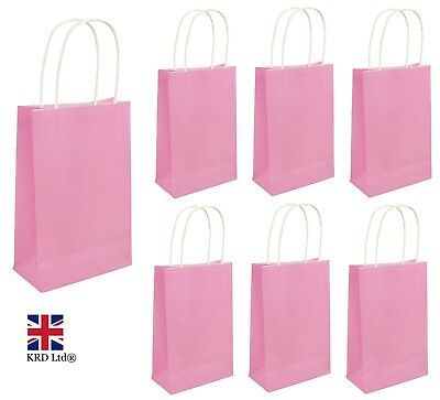 BABY PINK PARTY BAGS Kids Girls Birthday Favors Baby Shower Hen Goodies Gift UK