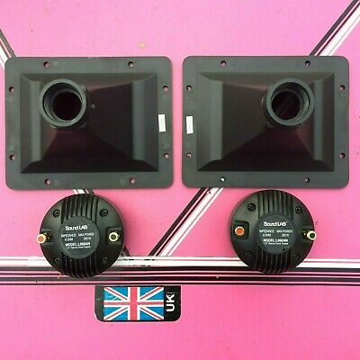 (pair) compression horn-tweeters 8x6 actual flare size 192x 152mm 200watts max