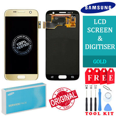 ca6a5cc1f5f SAMSUNG GALAXY S7 Lcd Touch Screen Display Oem Original Genuine Gold ...