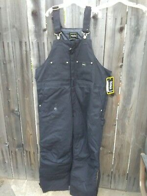 Walls Mens Insulated Duck Bib Overall Tough Work Wear Canvas Water Repellent XXL