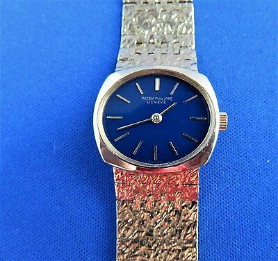 Rare Patek Philippe Ladies 23mm Ref 4104/1 18K YELLOW Gold Hand-winding WATCH