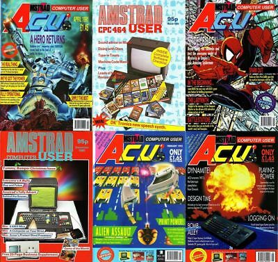 Amstrad Computer User (ACU) + AMTIX Magazine's DVD - COMPLETE RUN + Extras PDF's