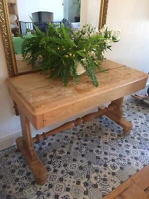 Antique French Pine Desk/Table/side Table/hallway
