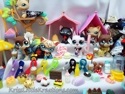 *NEW* Littlest Pet Shop Accessories Lot Custom LPS Cloths Random Grab Bag Bows