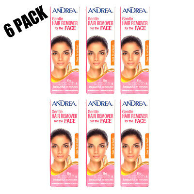 Andrea Gentle Hair Remover for Face 2 oz 6 Pack