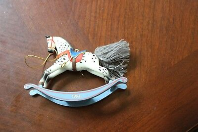 Hallmark 1984 Rocking Horse Ornament EUC