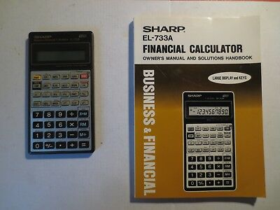 sharp el 733a financial business calculator owners manual and rh picclick com sharp financial calculator el-735 manual sharp financial calculator el-735 manual