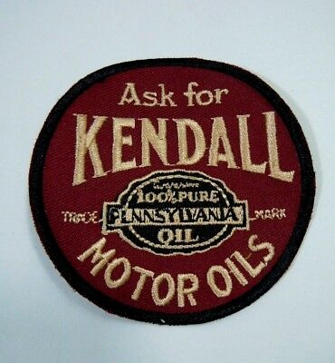 Vintage Ask For KENDALL Motor Oils Embroidered Sew On Uniform-Jacket Patch 3""