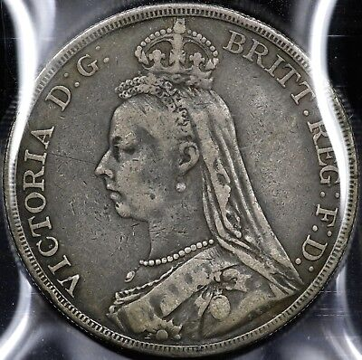 1889 One 1 Crown Great Britain #2