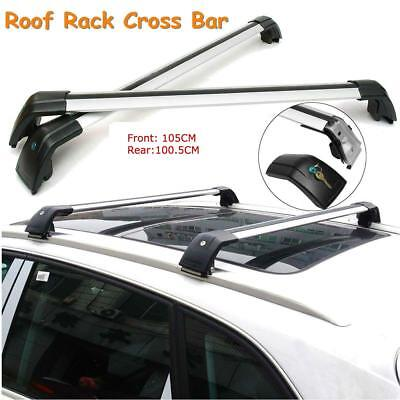 Universal Shark9590M Aluminum Alloy Silver Roof Rack Crossbars for Flush Roof...