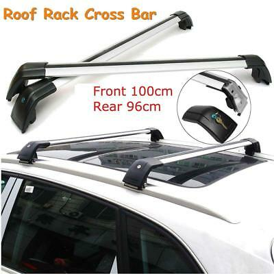 Universal Shark90M86 Aluminum Alloy Silver Roof Rack Crossbars for Flush Roof...