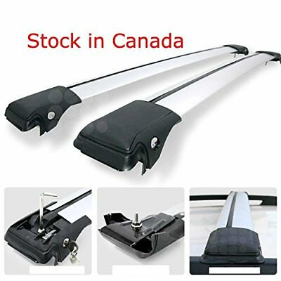 Universal Roof Rack Raised Side rail Crossbars Rooftop Cross Bars Lockable  -...
