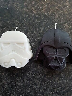 Starwars Darth Vader and stormtrooper birthday candle/cake topper handemade