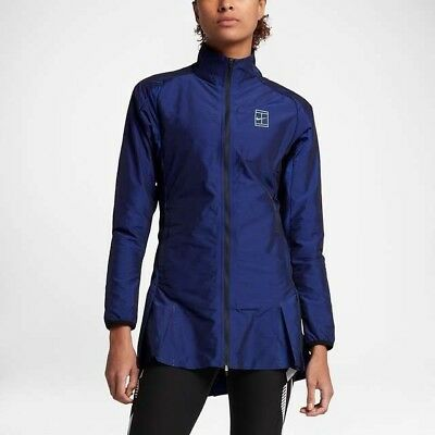 NikeCourt Woven women's tennis jacket - adult S (UK 10) in paramount blue