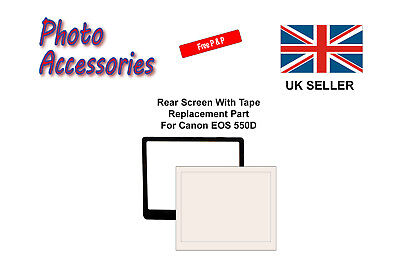 Rear Screen Replacement Part with Tape For Canon EOS 550D