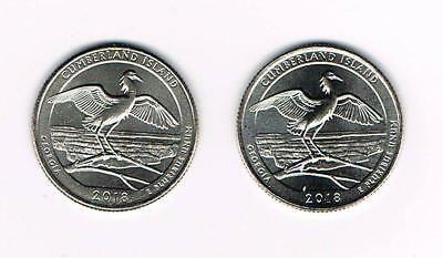 2018 P&d Cumberland Island National Seashore (Ga) Atb Quarter- Unc.