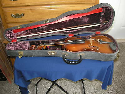 Vintage J Stainer German Copy 4/4 Violin & Case