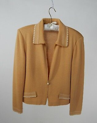 St. John Collection by Marie Gray Knit Zip Jacket and Skirt Size 8