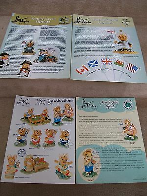 2005 PENDELFIN TIMES FAMILY CIRCLE UPDATE SHEETS 4 issues