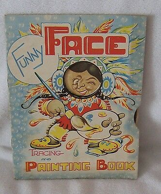 Pendelfin FUNNY FACE TRACE & PAINTING BOOK JEAN W. HEAP Candlelight Productions