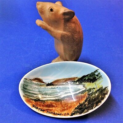 Studio Anna - Mid Century Small Hand Painted Oval Dish - Victor Harbour