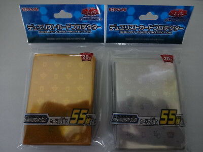 "Yu-Gi-Oh Card Protector ""20th ANNIVERSARY GOLD & SILVER"" Sleeve 55 pcs Japan"