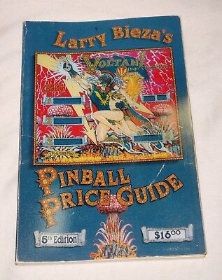 Book The Pinball Price Guide 5th Edition by Larry Bieza -Used But Nice Condition
