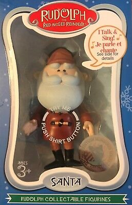Rudolph The Red-Nosed Reindeer Collectable Figurines Santa