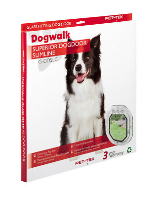 Pet-tek Dogwalk Heavy Duty Pet Door For Glass Fitting (Dog door) - Slimline