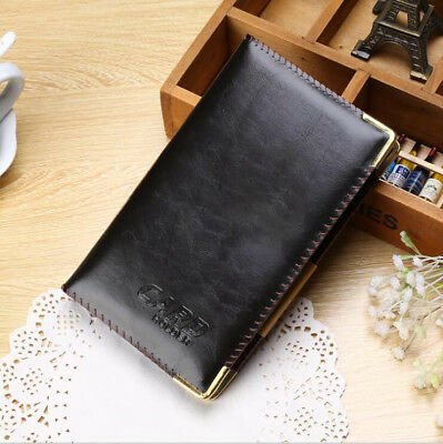 Black Business Card Holder Book PU Leather 240 Name Cards Organizer golden edge