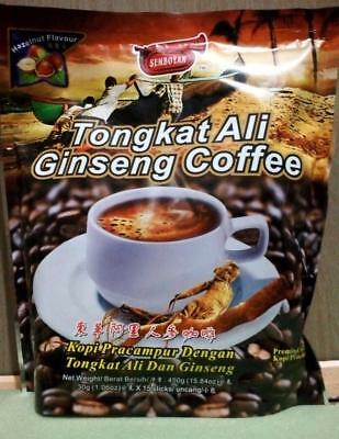 Instant Coffee Mix Powder Tongkat Ali Ginseng Hazelnut Flavour 15 Sticks * 30g