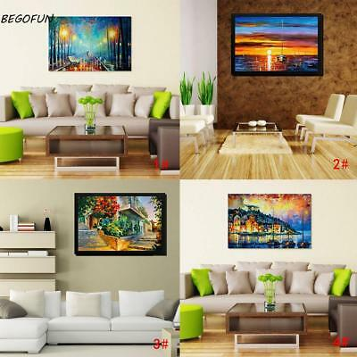 Frameless Huge Wall Art Oil Painting On Canvas Beautiful scenery Home Decor 02