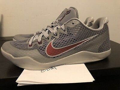 f0025a6573fe ... wholesale size 10 nike kobe xi 11 lower merion aces gray red 836183 006  mens good