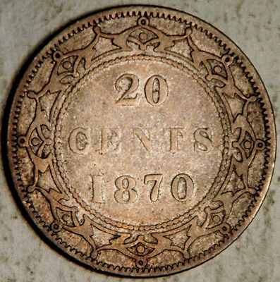 Newfoundland (Canada) Silver 20 Cents 1870 (Lot #1)