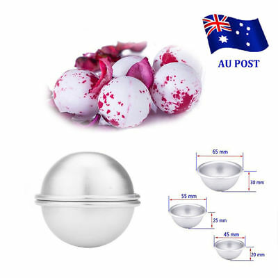2pcs Aluminum Bath Bomb Molds DIY Homemade Crafting Bath Round Ball Moulds VN